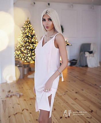 Платье на бретелях с V-образным вырезом, фото 2