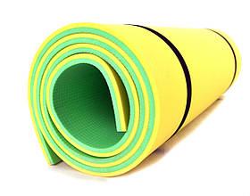Коврик (каремат) - Турист зелено-желтый