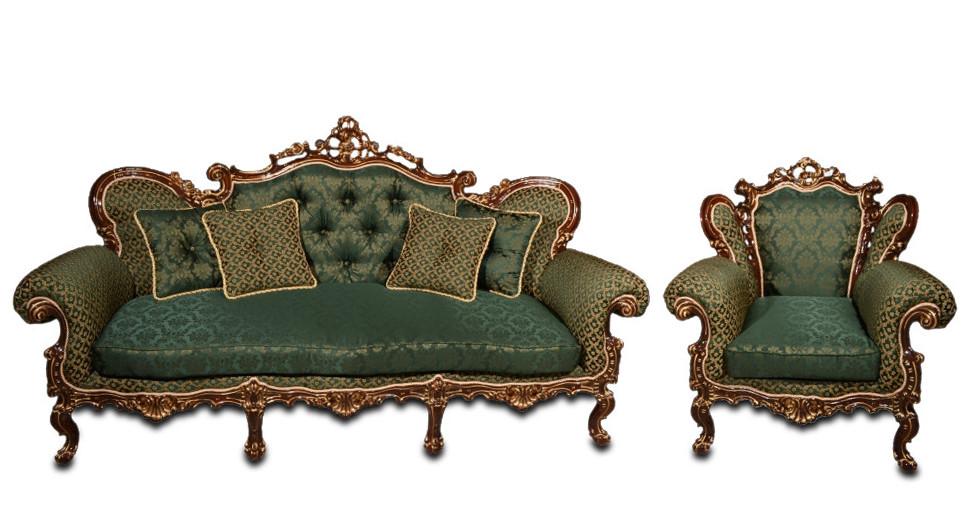 """Кожаный диван в комплекте с креслом - """"Элия"""" (3+1)"""