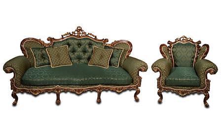 """Кожаный диван в комплекте с креслом - """"Элия"""" (3+1), фото 2"""