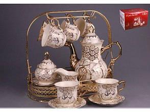 """Lefard Чайный набор (сервиз) """"Лейла"""" на метал.подставке 15пр.  729-027"""