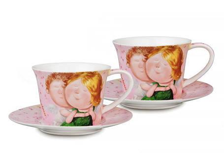 """Lefard Чайный набор (сервиз) """"Ты мое счастье"""" 4пр.  924-072, фото 2"""