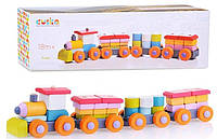Деревянная игрушка Поезд Левеня Cubika LP-1
