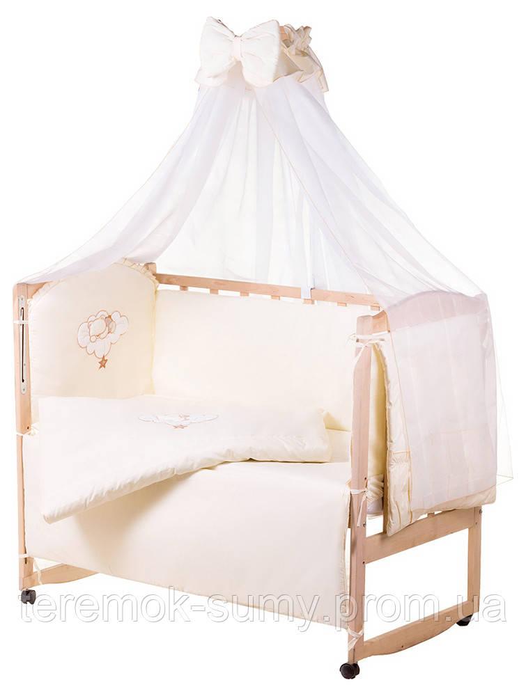 Детская постель Qvatro Gold AG-08 аппликация  бежевый (мишка спит на облаке)