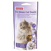 Beaphar No Stress Cat Treats мясные подушечки для снятия стресса у котов, 35г