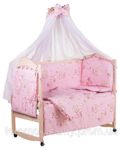 Детская постель Qvatro Gold RG-08 рисунок  розовая (мишки, пчелка, звезда)