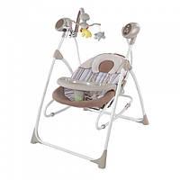 Детское кресло - качалка шезлонг BT-SC-0005. 5 скоростей укачивания. Спинка 3 положения.