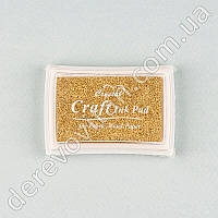 Чернильная подушечка для штампов, золото, 4×6 см