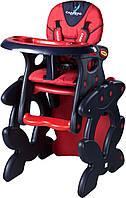 Стульчик-трансформердля кормления Caretero Primus - Польша - трансформируется в стол и стул Red
