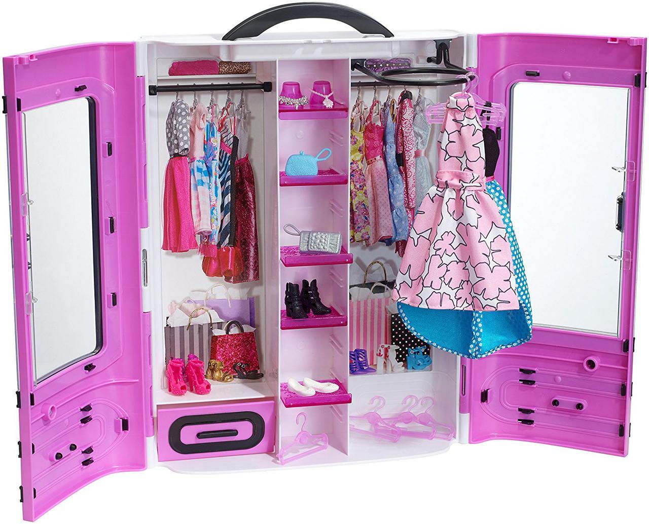 Игровой набор куклы Барби модный гардероб шкаф розовый Barbie Fashionistas Ultimate Closet