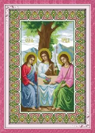 Набор для вышивания крестиком с печатью на ткани Святая Троица R291/2 канва 11СТ