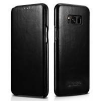Кожаный флип-чехол iCarer Black для Samsung Galaxy S8 Plus