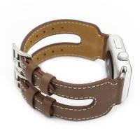 Кожаный ремешок Double Buckle Taupe для Apple Watch 38mm Series 1/2/3