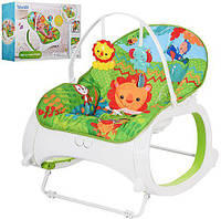 Шезлонг-кресло-качалка Bambi M 3248 (аналог Fisher-Price)