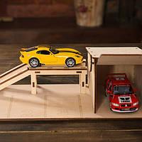 Деревянный гараж+ эстакада