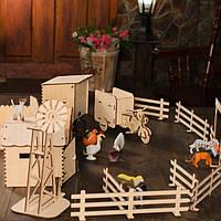 Игровой набор ферма деревянный
