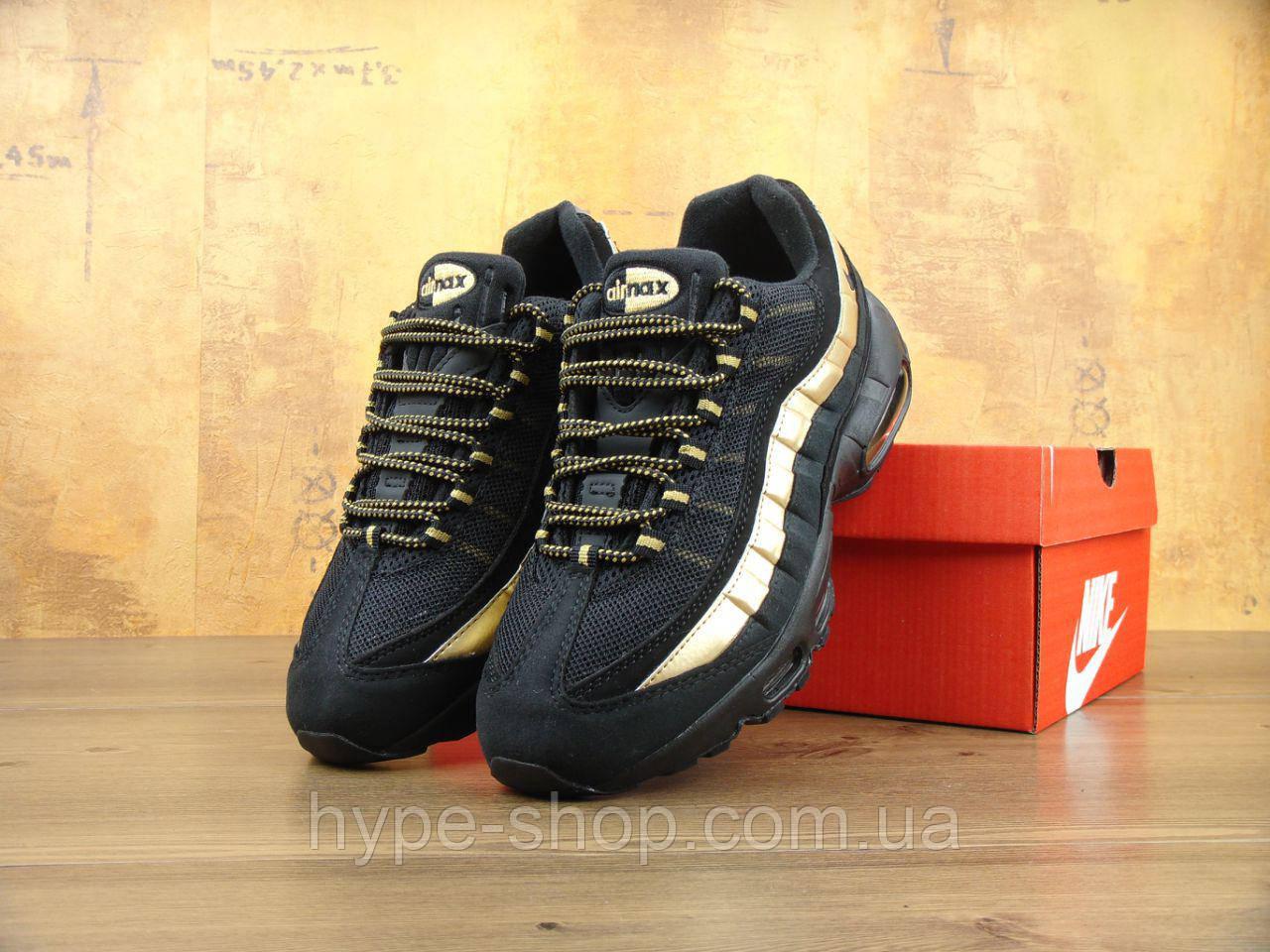 Мужские черные кроссовки Nike Air Max 95 | Люкс Копия