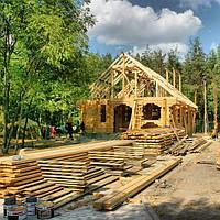 Стоительство срубов деревянных домов в Харькове