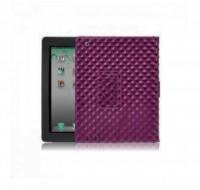 Фиолетовый кожаный чехол BRUNO для iPad 2/3/4