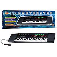 Пианино SK 3738 (10шт) 37 клавиш, микрофон,запись,на батарейке,в коробке,75-21,5-6,5см,детское пианино