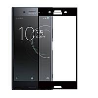 Защитное стекло Sony XZ1 / G8342 / G8341 / F8342 Full cover черный 0,26мм в упаковке