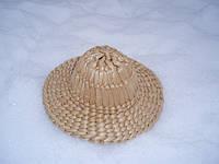Брыль сувенирный,плетенный из рогоза, фото 1