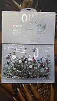Камушки для ногтей разноцветные 1440 шт микс размеров и цветов