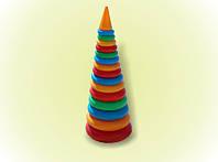Пирамидка №4 61см 15колец, детская пирамидка, развивающая игрушка, развивающая пирамидка