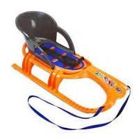 Санки Khw snow tiger comfort, оранжевые (MD)