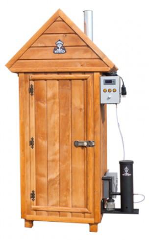 Коптильня холодного копчения деревянная + 2 кг щепы