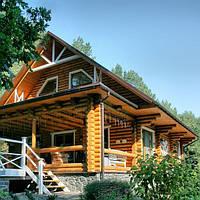 Строительство срубов деревянных домов из оцилиндрованного бревна в Харькове