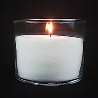 Насыпная свеча белая, h 10 см, Ø 12 см, из пальмового воска