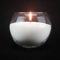 Насыпная свеча белая, h 12 см, Ø 15 см, из пальмового воска