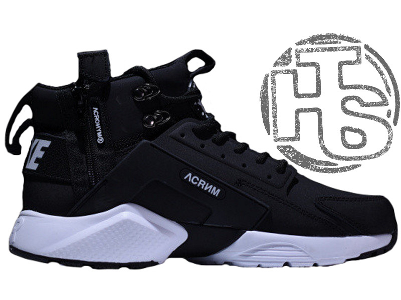Мужские кроссовки Nike Air Huarache x ACRONYM City MID LEA Black/White  856787-001