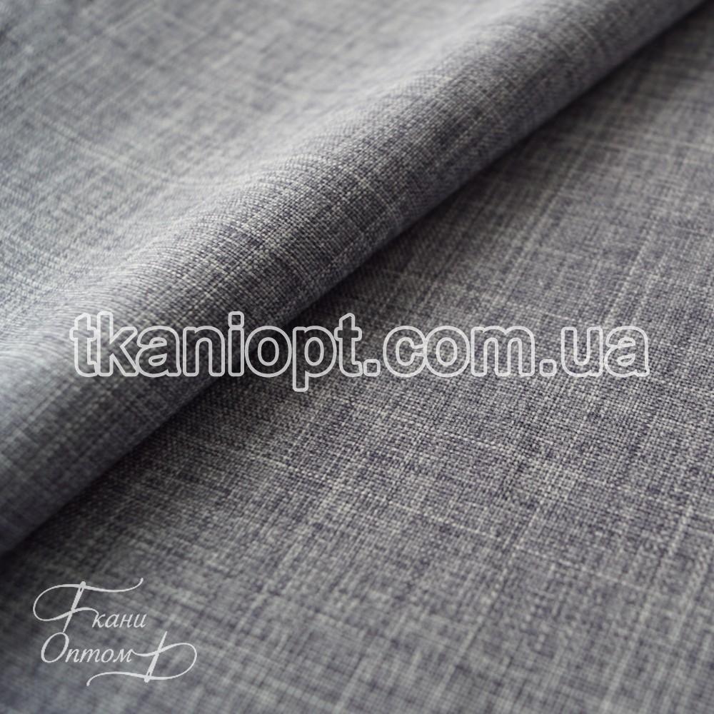 Ткань Лен габардин (серо-синий)