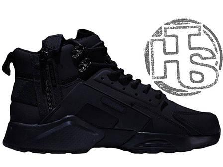 Мужские кроссовки Nike Air Huarache x ACRONYM City MID LEA Black 856787-009, фото 2
