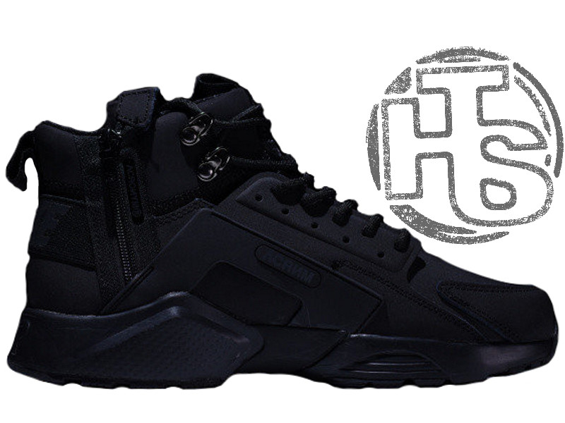 1294e81065fe7a Мужские кроссовки Nike Air Huarache x ACRONYM City MID LEA Black 856787-009  - Интернет