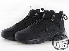 Мужские кроссовки Nike Air Huarache x ACRONYM City MID LEA Black 856787-009, фото 2