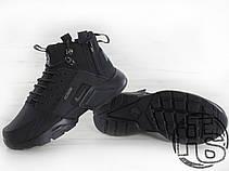 Мужские кроссовки Nike Air Huarache x ACRONYM City MID LEA Black 856787-009, фото 3