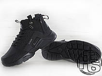 Мужские кроссовки Nike Air Huarache x ACRONYM City MID LEA Black 856787-009, фото 3