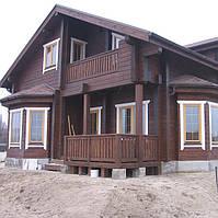 Строительство домов, коттеджей, из клееного бруса в Харькове