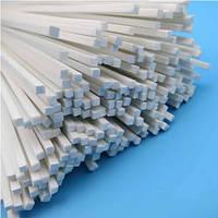 Пластиковый профиль 2 мм. Х 2 мм. Квадрат, длина 250 мм. 1 шт.