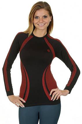 Женская термофутболка Hi-Tec Lady Rico BLACK-RED, фото 2