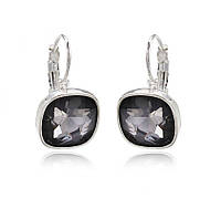 Элегантные серьги с серыми австрийскими кристаллами.