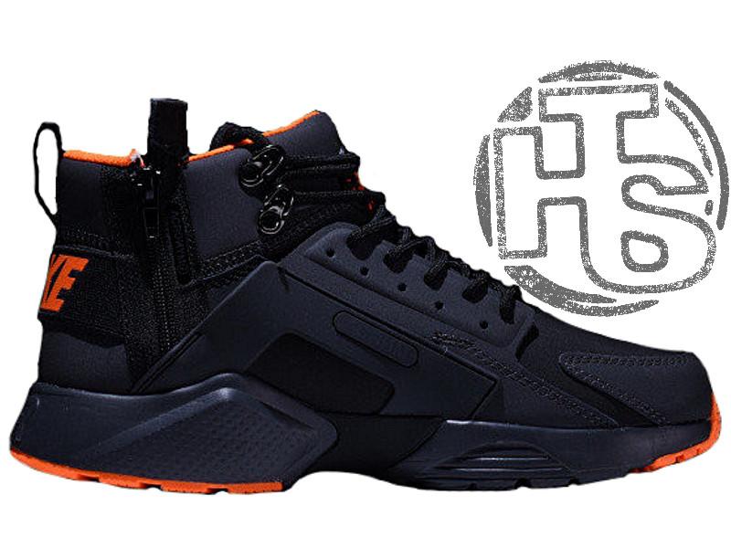 promo code b5292 0a564 Мужские кроссовки Nike Air Huarache x ACRONYM City MID LEA Black/Orange  856787-107 - купить по лучшей цене с доставкой по Украине и СНГ ...