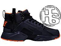 eda0c59377b94c Мужские кроссовки Nike Air Huarache x ACRONYM City MID LEA Black/Orange  856787-107