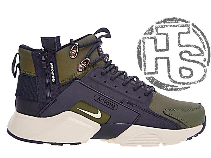 Мужские кроссовки Nike Air Huarache x ACRONYM City MID LEA Green/Black 856787-107
