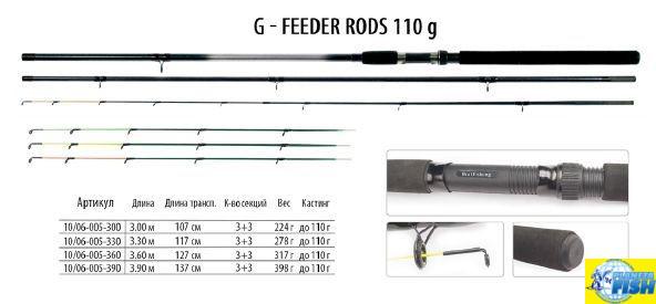 Фидер BratFishing G-Feeder Rods 3,0m (up to 110g)