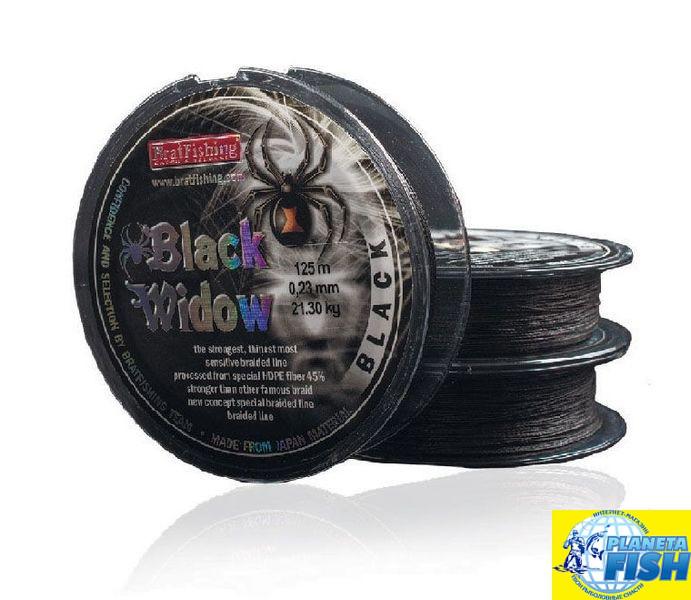 Шнур BratFishing Black Widow Black 125м