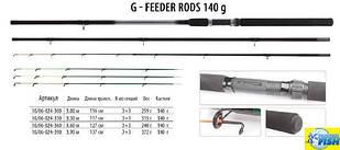 Фідер BratFishing G-Feeder Rods 3,6 m (up to 140g)